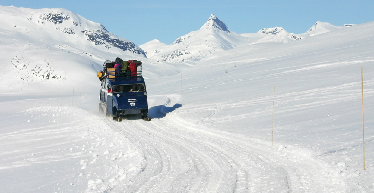 Snow coach operated by JVB