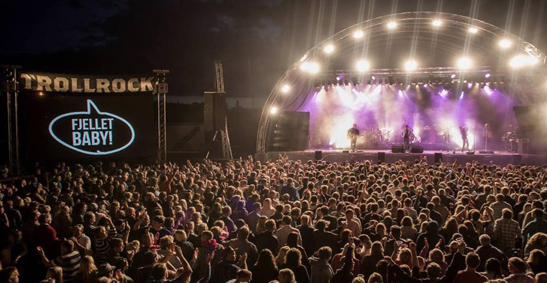 Trollrock is a mountain rock music festival in Beitostølen with a great  ambiente and an impressive