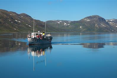 M/B Bitihorn on Lake Bygdin.