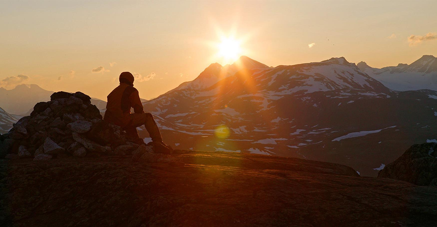 Sunset in Jotunheimen.