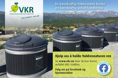 VKR - waste deposit stations in Valdres|