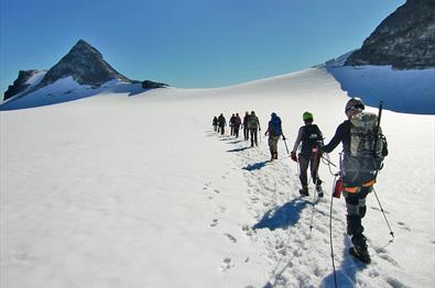 Guided glacier tour to Uranostinden