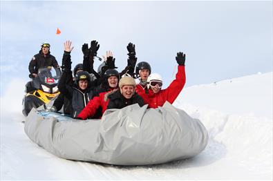 Snowrafting at Beitostølen