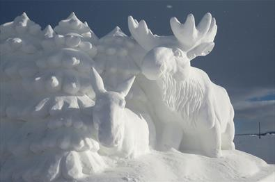 The Snow Sculpture Festival at Beitostølen