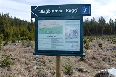 "Information board along the ""Rugg"" trail in Vassfaret."